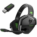 NUBWO G06 Wireless Gaming Headset for PS5, PS4, PC Games, 2.4GHz Extremely-Low Latency, Bluetooth 5.0, Gentle Memory Earmuffs (Inexperienced)