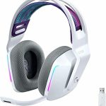 Logitech G733 Lightspeed Wireless Gaming Headset for PC, Mac, PS4/PS5(Now no longer for Xbox) – White (Renewed)