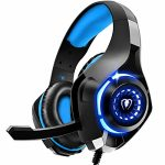 Gaming Headset for PS4 PS5 Xbox Switch PC with Noise Canceling Mic, Deep Bass Stereo Sound